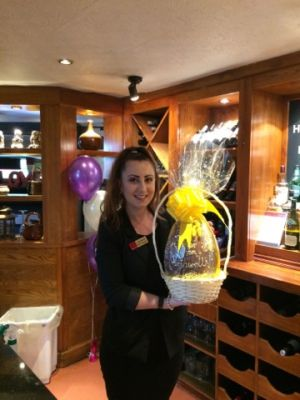 Saluté Easter Egg Raffle winner Leah Money