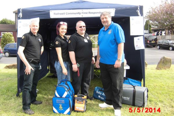 Lion President Phil with the Rothwell Community First Responders team