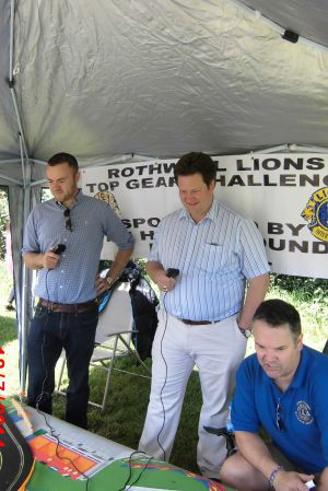"Rothwell and Elmet MP Alec Shelbrook competing in the Rothwell Lions ""top"