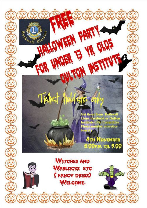 Halloween party flyer 4th Nov.2017