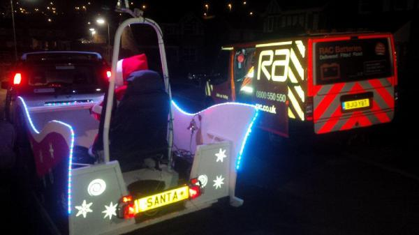 Santa Sleigh rescued by the RAC