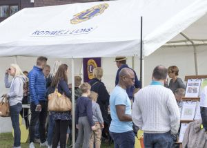 Ticket selling at the Rothwell May day carnival