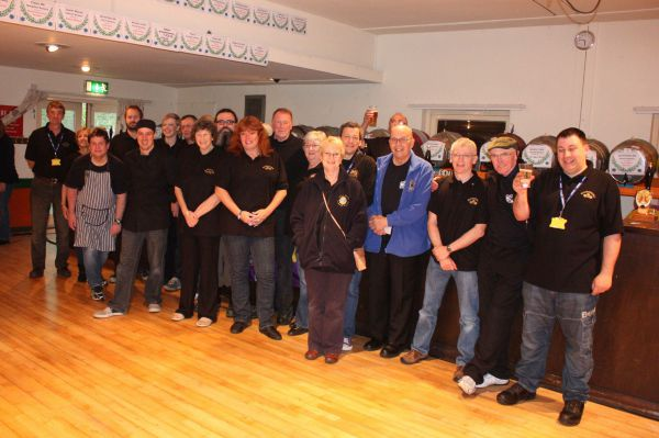 Some of the team from the 2014 Rothwell Beer Festival