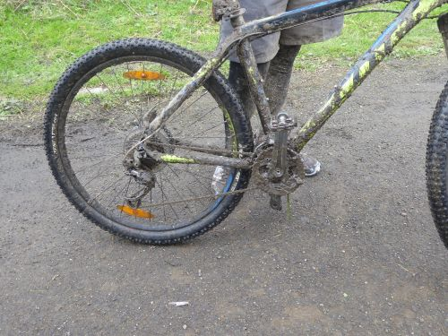 This is what a mudddy bike looks like